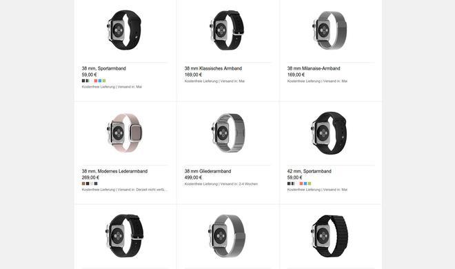 Apple Watch: Umtausch des gekauften Armands möglich - allerdings mit Einschränkungen