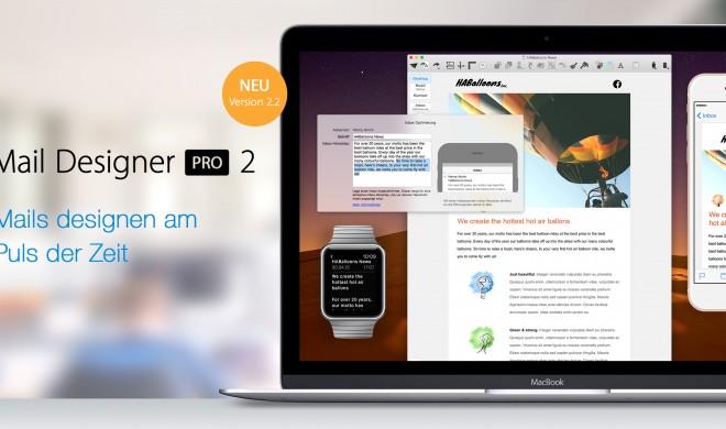 Apple Watch: Mail Designer Pro 2.2 mit Apple Watch Unterstützung - mehr Funktionen für die Apple Smartwatch