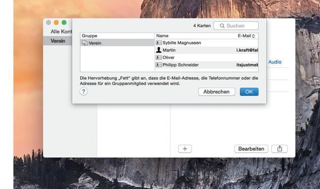 Kontakte auf dem Mac: Clevere Funktionen erleichtern die Gruppenverwaltung