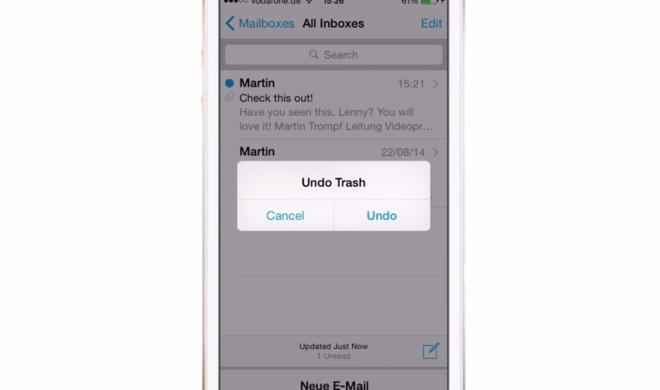 iOS 8 Video-Tipp: Versehentlich gelöschte E-Mails wiederherstellen - so geht's