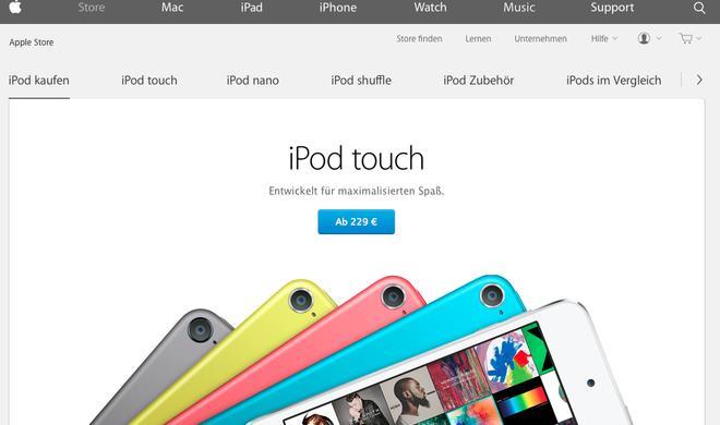 iPod verschwindet aus dem Hauptmenü der Apple-Webseite: Anfang vom Ende des Musik-Players?