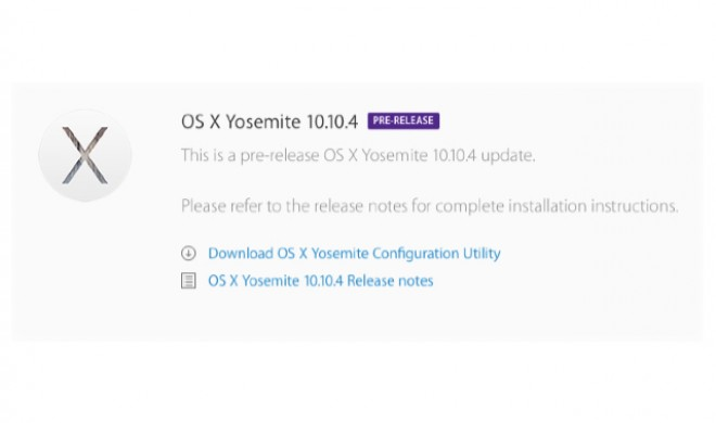 OS X 10.10.4 Yosemite Beta 5 ab sofort verfügbar: Heilung für WLAN-Problem naht