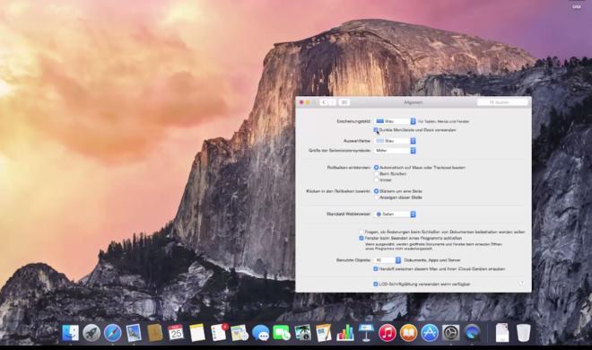 OS X 10.10 Yosemite Video-Tipp: Dunkles Dock & Schwarze Menüleiste – so geht's