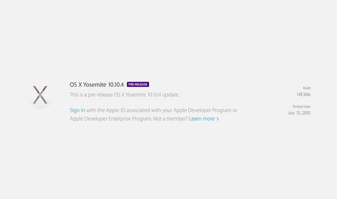 OS X 10.10.4: Sechste Beta-Version auch für öffentliche Nutzer verfügbar - finale Version steht vor der Tür