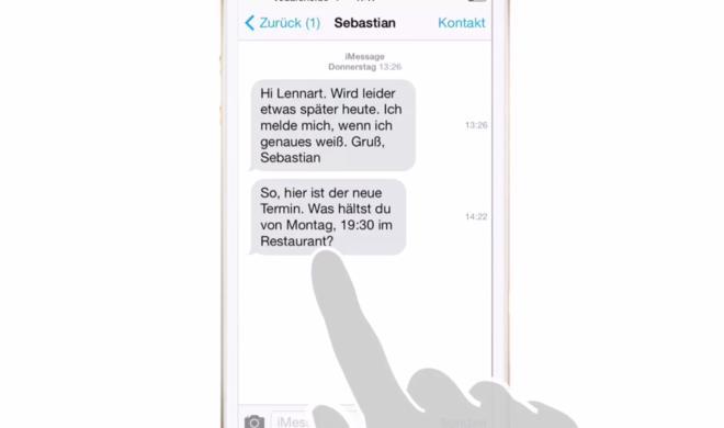 iOS 8 Video-Tipp: Zeitpunkt des Eingangs jeder Nachricht herausfinden – so geht's