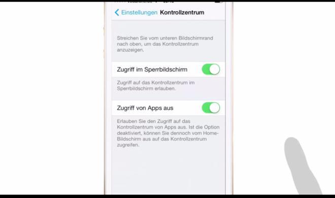 iOS 8 Video-Tipp: Globale Wischgeste für das Kontrollzentrum deaktivieren – so geht's