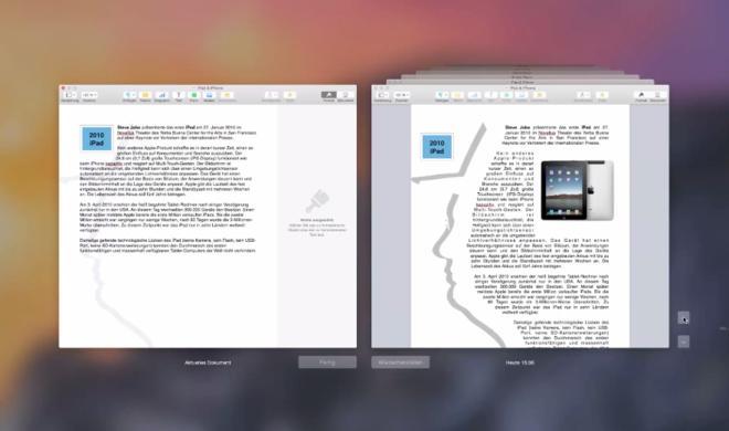 OS X 10.10 Yosemite Video-Tipp: Ältere Versionen eines Dokuments durchsuchen und wiederherstellen – so geht's