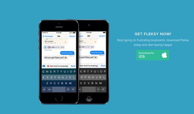 Fleksy: iOS-Tastatur nun gratis - Käufer der Bezahl-Version bekommen ein Geschenk