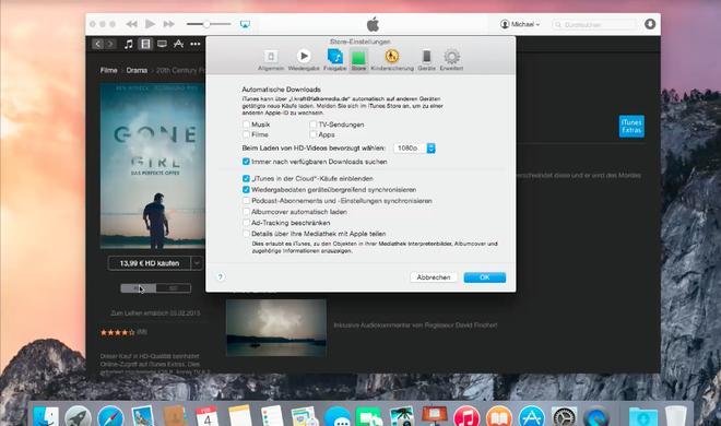 OS X 10.10 Yosemite Video-Tipp: Hochauflösende Filme und Serien in HD genießen - so geht's
