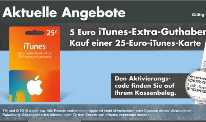 iTunes-Guthaben-Rabatt bei Kaufland