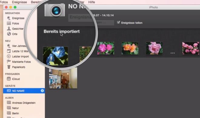OS X 10.10 Yosemite Video-Tipp: Fotos von Kamera importieren – so geht's