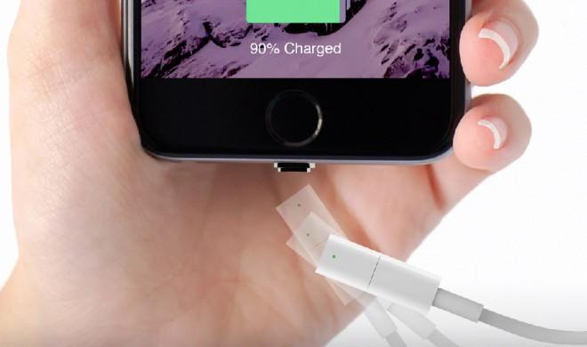 Magnet-Kabel für iPhones  ahmt Magsafe nach und wäre auch eine Lösung für das MacBook 12