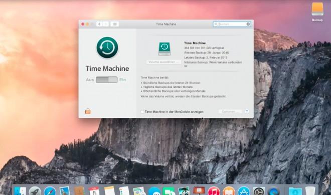 OS X 10.10 Yosemite Video-Tipp: Backup über Time Machine einrichten und Daten sichern - so geht's