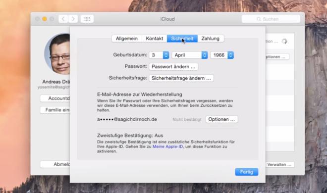 OS X 10.10 Yosemite Video-Tipp: Apple ID richtig nutzen – so geht's