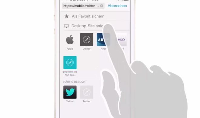 iOS 8 Video-Tipp: In Safari auf Desktop-Version einer Webseite wechseln – so geht's