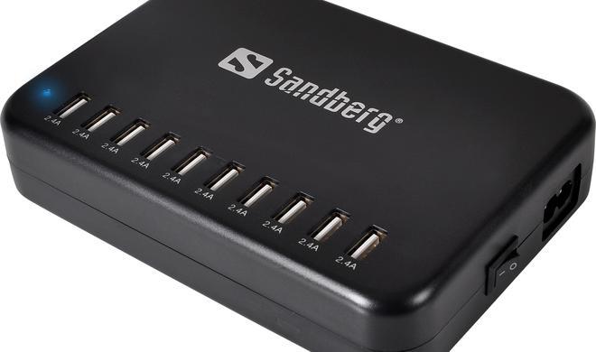 Sandberg Master Charger Pro - riesiges  Ladegerät mit 10 USB-Ports