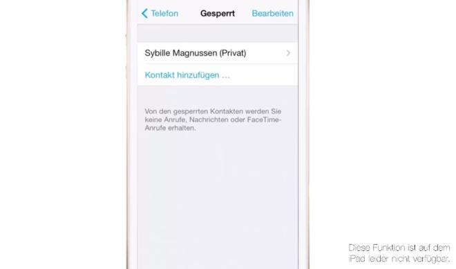 iOS 8 Video-Tipp: Telefonnummer sperren & lästige Kontakte blockieren – so geht's
