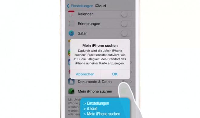 """iOS 8 Video-Tipp: """"Mein iPhone suchen"""" aktivieren – so geht's"""