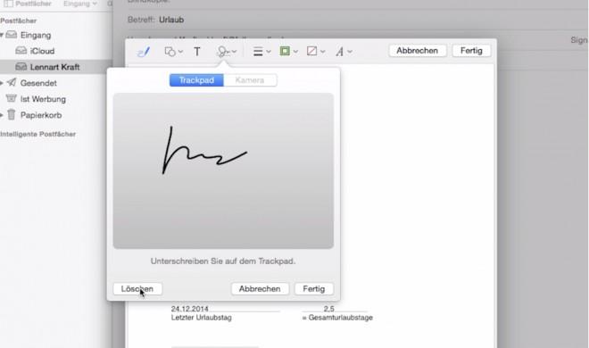 OS X 10.10 Yosemite Video-Tipp: Unterschrift in E-Mail einfügen – so geht's