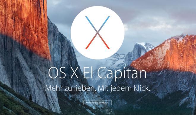 OS X 10.11 El Capitan: Neueste Beta-Versionen stehen zum Download bereit