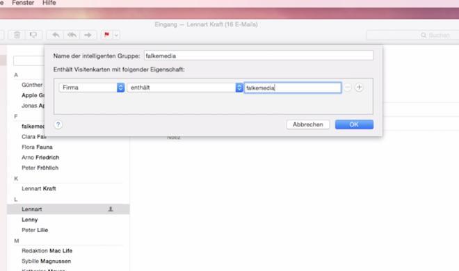 OS X 10.10 Yosemite Video-Tipp: Kontakte automatisch in intelligenten Gruppen sortieren und für mehr Übersicht sorgen – so geht's