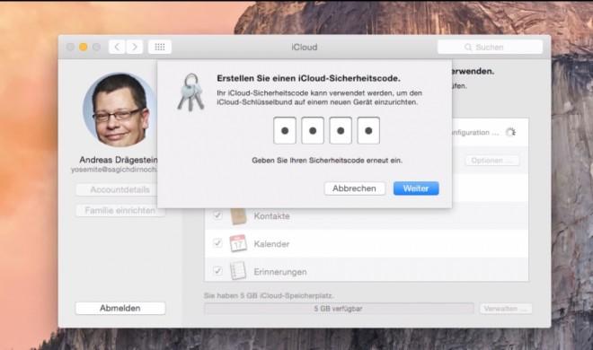 OS X 10.10 Yosemite Video-Tipp: iCloud-Daten mit Sicherheitscode schützen – so geht's