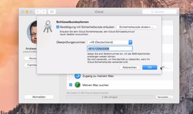 OS X 10.10 Yosemite Video-Tipp: iCloud-Sicherheitscode und Telefonnummer ändern – so geht's