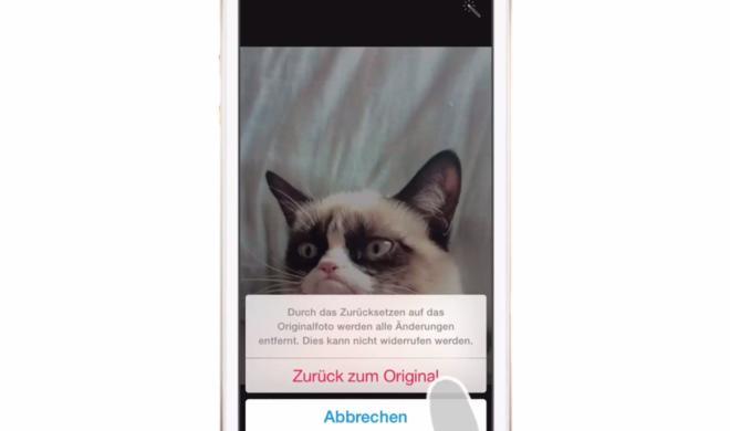 iOS 8 Video-Tipp: Foto-Bearbeitung rückgängig machen – so geht's