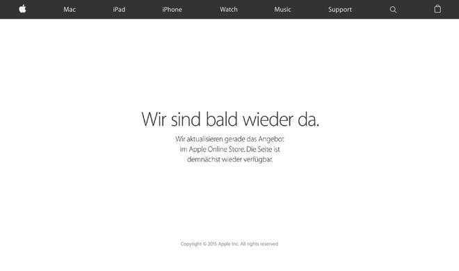 Apple Online Store derzeit nicht verfügbar: iPhone 6s-Vorbereitungen laufen offensichtlich auf Hochtouren