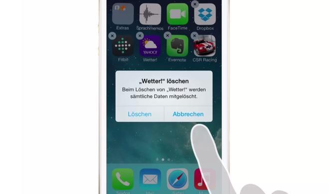 iOS 8 Video-Tipp: Installierte Apps wieder löschen – so geht's