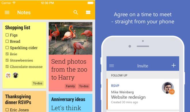 iOS-Apps: Google Keep und Microsofts Invite gibt es nun auch für iOS
