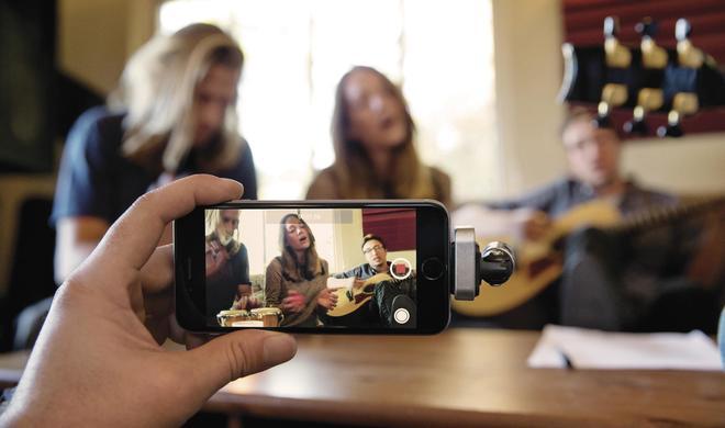 iPhone 6s-Zubehör: Aufsteckmikro Shure MV88 sorgt für hervorragende Aufnahmequalität