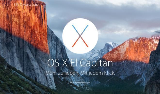 OS X 10.11 El Capitan: So installieren Sie Apples neues Betriebssystem