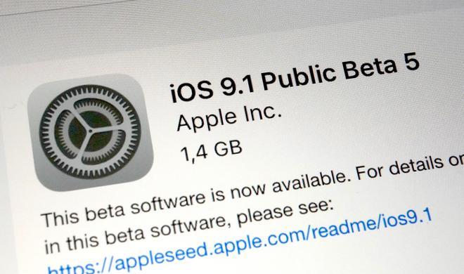 iOS 9.1 Beta 5 für Entwickler und Beta-Tester ist da