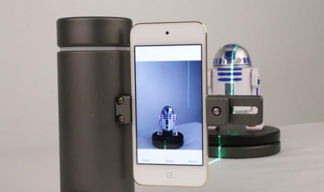 Aluminium-Röhre Eora macht aus dem iPhone einen 3D-Scanner