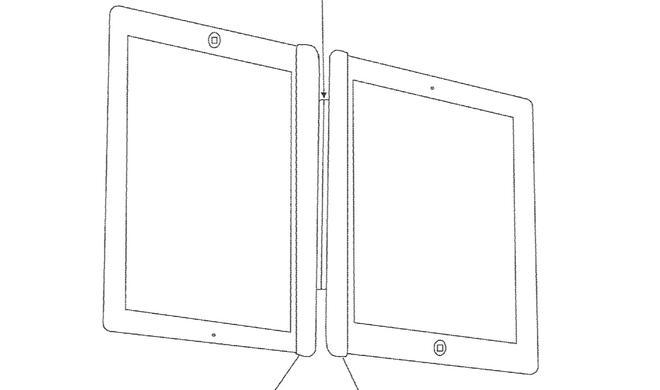Magnetische iPad-Halterung macht aus zwei Tablets ein Notebook