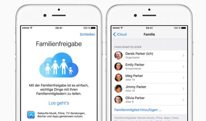 Freigeben für Anfänger: Mit Apple zum virtuellen Familienoberhaupt