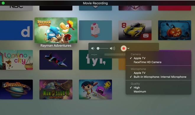 Apple TV 4: Screenhots anfertigen und Videos aufnehmen