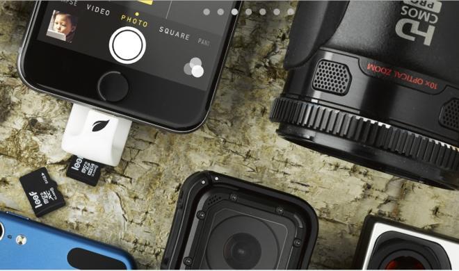 Lightning-Flash-Drive mit microSD-Kartenleser für das iPhone
