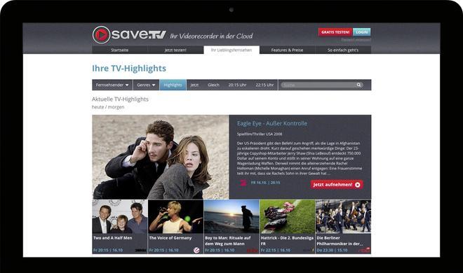 Save.TV: Fernsehen in der Cloud