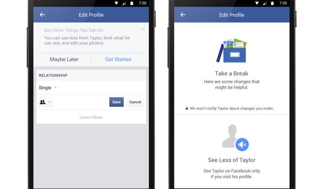 Facebook versteckt die Ex!