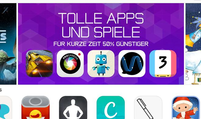 App-Store-Schnäppchen: iOS-Apps zum halben Preis