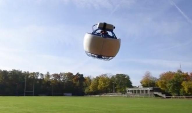 Fleye: Kugelförmige Drohne mit Schutzmantel um den Rotor
