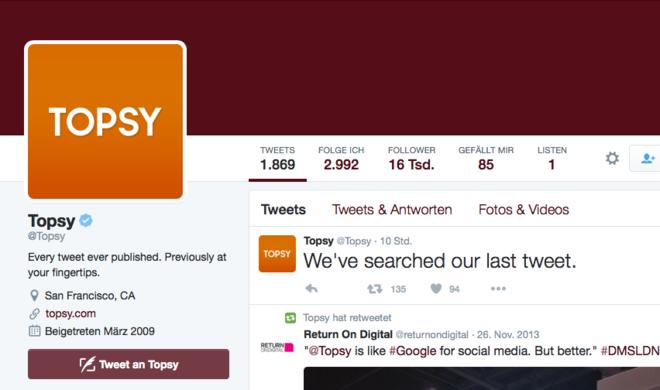 Ausgeschlachtet: Apple schließt Topsy