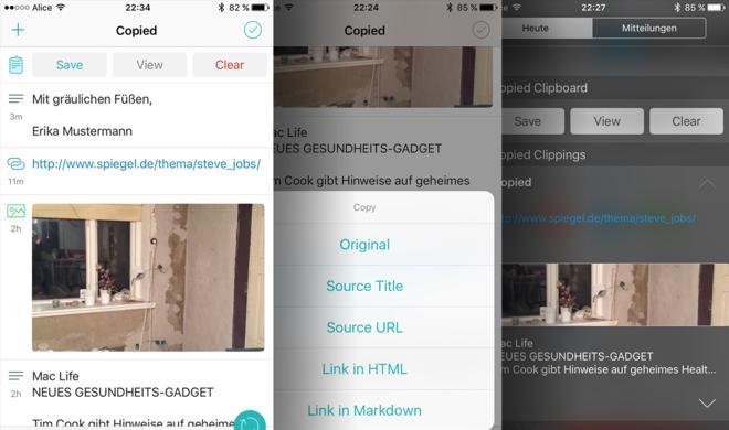 Test: Copied, die clevere Zwischenablage für iPhone und iPad