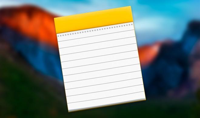 OS X El Capitan: Schnelle Tipps zur neuen Notizen-App