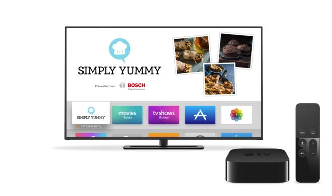 Simply Yummy: 50 traumhafte Backrezepte als Apple-TV-App – gratis!