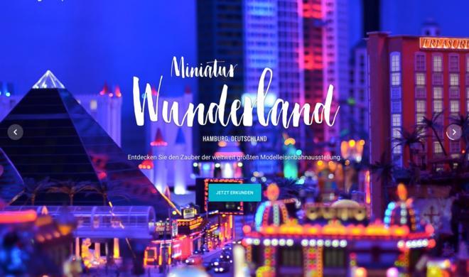 Hamburger Miniatur Wunderland in Google Street View