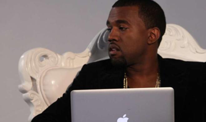 Das MacBook Air von Kanye West hat's schwer