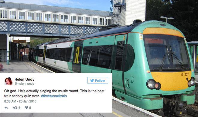 #timetunneltrain: Twitterquiz im Morgenzug nach London